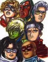 Young Avengers Facial by KwongBee-Arts