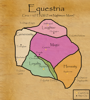 Post-Division Map of Equestria by TheWarMoose
