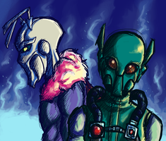 Killer Moth and Firefly by Shaiger