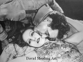 John Gilbert and Gretta Garbo by Drawing-Dude-Dave