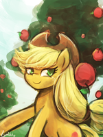 Applejack Day(30minutechallenge) by luminaura