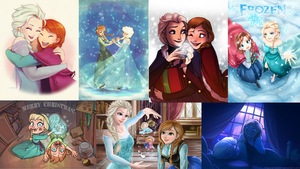 Frozen wallpaper collage 2 by GirlKaito