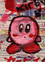 Kirby on Newspaper XD by little-ampharos