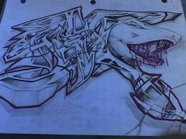 Shark in Graffiti by ScarrFace