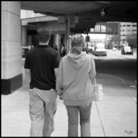 walking couple by tominabox1