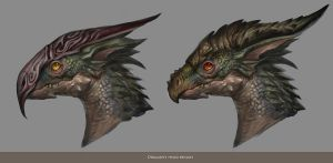 DRAGON HEAD DESIGN by banhatin