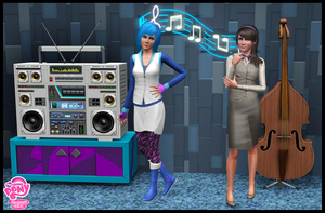 The Sims 3: MLP FiM Octavia and Vinyl Scratch by Tx-Slade-xT