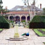 The Holland Park Armilary Sundail And Peacock by aegiandyad