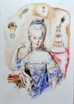 Marie Antoinette With the Exploding Pastry by susannavaris