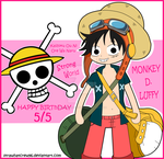 Happy Birthday Luffy by strawhatcrew96
