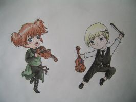 Violin Fight by WildBerry83