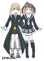 Maka and Tsugumi by Hagaluz
