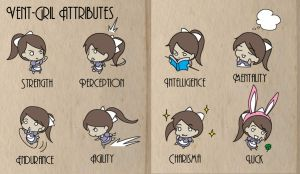 Vent Girl: Attributes by Alice13th