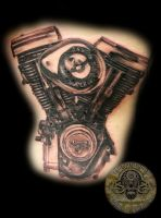 Harley engine TaT by 2Face-Tattoo
