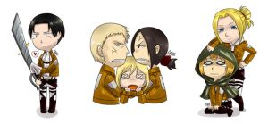 Snk pairings chibis 2 by Ayuyowsky