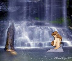 Mommy By The Waterfall by MandiPope