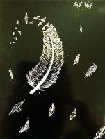 Feather Scratch art. by HalfWolfStudios