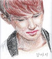 Onew oil pastel by Vampiano