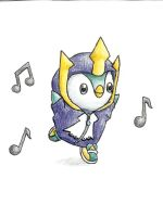 Piplup in an Empoleon onsie . by Eli-riv