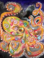 Charlie the Cosmic Octopus by FoolsGolde