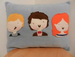 the power of 3 14x14 fleece pillow by celina-tamwood