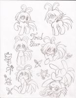 Timid Star Sketches 1 by HirokoTheHedgehog