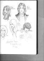 Vampire Academy Fan SKetches by Mariah-Wall
