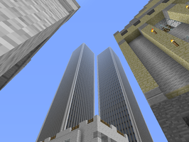 9/11 North and South In Minecraft by Blinx3megachanel