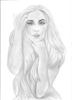 lady gaga pencil drawing by charissa1996