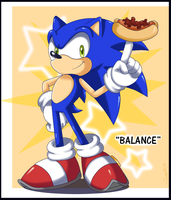 Balance that Chillydog by Domestic-hedgehog