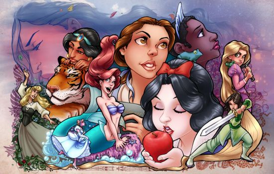 Disney Princesses color by ComfortLove