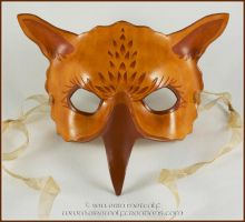 Sepia Gryphon leather mask by EirewolfCreations