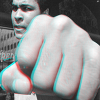 Mohamed ali fist coming out of your screennn by jeffrockr