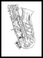 Saxophone by carriephlyons