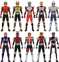 Kamen Rider Decade, Hesei Form Rides by Taiko554