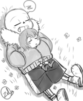 Undertale - Nap time by zeldaprincessgirl100