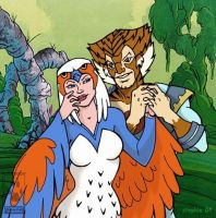 Tigra and the Sorceress by lady-cybercat