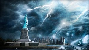 Hurricane Sandy hits News York by paulmaszlik