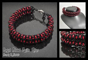 Royal Blood Chainmaille Collar by crazed-fangirl
