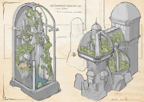 Clouds of Avia - Arboteum/Garden Sketches by CaconymDesign