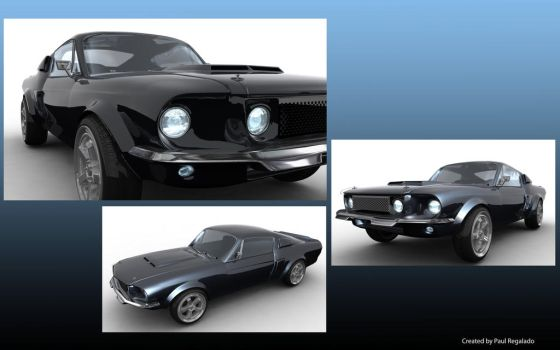 67 Shelby Mustang GT 500 by seraphim1324
