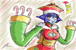 Lei Lei celebrating christmas by borockman