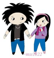 Chibi Bill and Momo by MomoScarletKaulitz