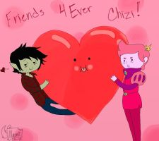 Best pals forever chizi! by naomi-choco-wolf