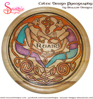 Celtic Design Pyrograph (Wood Burning) by snazzie-designz