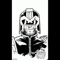 Daily Sketches 029: Judge Dredd by AndrewKwan