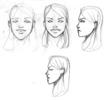 Continuous Face Sketches by Nx3Fox