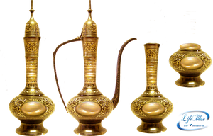 Old golden vases - PNG by lifeblue