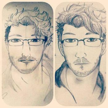 Before after (markiplier) by bellawing