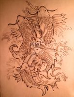Koi fishes by rizb0